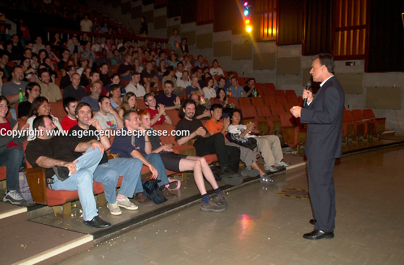 August 2,  2003, Montreal, Quebec, Canada<br /> <br /> Actor Ray Wise (twin peaks) introduce the film DEAD END, August 2nd 2003<br />  at the Fantasia Film Festival  in Montreal, CANADA.<br /> <br /> Mandatory Credit: Photo by Pierre Roussel- Images Distribution. (&copy;) Copyright 2003 by Pierre Roussel