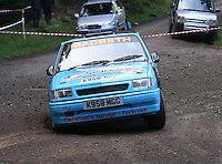 Scott MacBeth / Calum MacLeod at Junction 6, on Special Stage 1 Craigvinean in the Colin McRae Forest Stages Rally 2012, Round 8 of the RAC MSA Scotish Rally Championship which was organised by Coltness Car Club and based in Aberfeldy on 5.10.12.