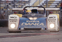 The #4 Oldsmobile Riley & Scott Mk III of Wayne Taylor, Scott Sharp, and Jim Pace races to victory in the 24 Hours of Daytona, IMSA race, Daytona International Speedway, Daytona Beach , FL, February 4, 1996.  (Photo by Brian Cleary/www.bcpix.com)