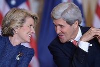 John Kerry, Chuck Hagel, Australia presser