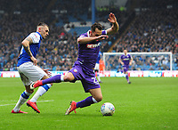 Bolton Wanderers' Filipe Morais is tackled by Sheffield Wednesday's Jack Hunt<br /> <br /> Photographer Chris Vaughan/CameraSport<br /> <br /> The EFL Sky Bet League Two - Mansfield Town v Lincoln City - Tuesday 6th March 2018 - Field Mill - Mansfield<br /> <br /> World Copyright &copy; 2018 CameraSport. All rights reserved. 43 Linden Ave. Countesthorpe. Leicester. England. LE8 5PG - Tel: +44 (0) 116 277 4147 - admin@camerasport.com - www.camerasport.com