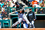 13 March 2010: Toronto Blue Jays' infielder Jarrett Hoffpauir in action during a Spring Training game against the Atlanta Braves at Champion Stadium in the ESPN Wide World of Sports Complex in Orlando, Florida. The Blue Jays shut out the Braves 3-0 in Grapefruit League action. Mandatory Credit: Ed Wolfstein Photo