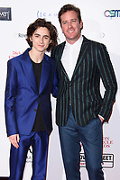 Timothee Chalamet and Armie Hammer<br /> arriving for the Critic's Circle Film Awards 2018, Mayfair Hotel, London<br /> <br /> <br /> ©Ash Knotek  D3374  28/01/2018