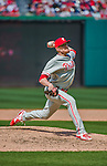 24 May 2015: Philadelphia Phillies pitcher Jake Diekman on the mound against the Washington Nationals at Nationals Park in Washington, DC. The Nationals defeated the Phillies 4-1 to take the rubber game of their 3-game weekend series. Mandatory Credit: Ed Wolfstein Photo *** RAW (NEF) Image File Available ***