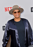 "LOS ANGELES, USA. June 04, 2019: Queen Latifah at the premiere for ""The Black Godfather"" at Paramount Theatre.<br /> Picture: Paul Smith/Featureflash"