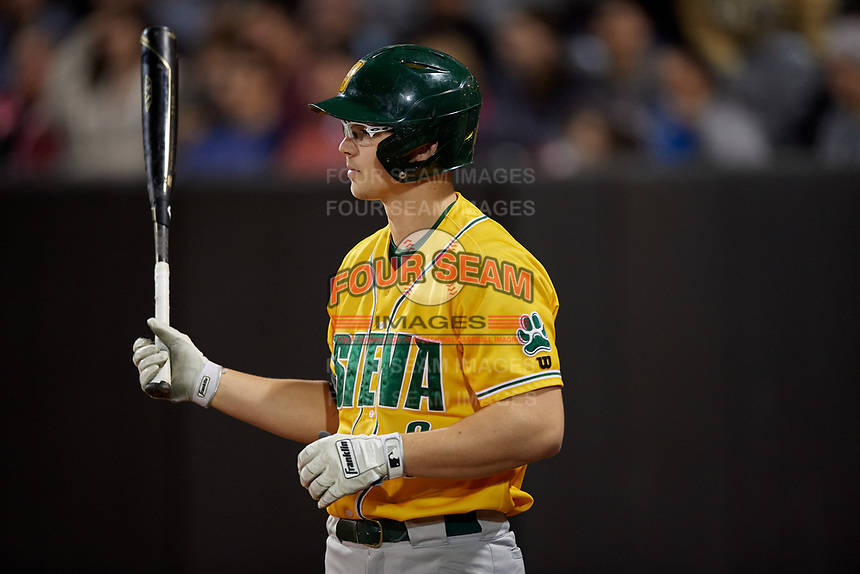 Siena Saints Evan St. Claire (8) during a game against the UCF Knights on February 14, 2020 at John Euliano Park in Orlando, Florida.  UCF defeated Siena 2-1.  (Mike Janes/Four Seam Images)