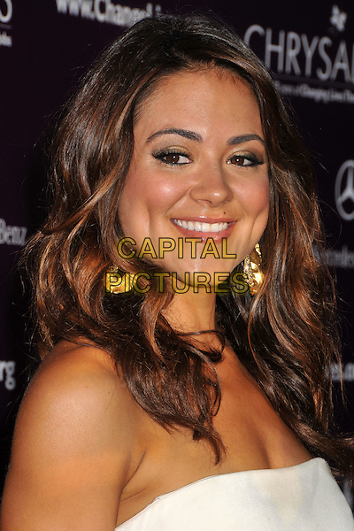 CAMILLE GUATY.8th Annual Chrysalis Butterfly Ball held at a Private Residence, Los Angeles, CA, USA..June 6th, 2009.headshot portrait earrings white strapless .CAP/ADM/BP.©Byron Purvis/AdMedia/Capital Pictures.