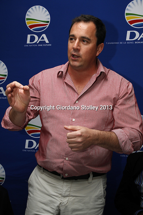 DURBAN - 26 August 2013 - John Steenhuisen, the Democratic Alliance's shadow minister for cooperative governance and traditional affairs spaeaks at a public meeting where it was announced by DA's Thekwini Metro Municipality caucus leader Zwakele Mncwango that the party intends bringing charges against councillors implicated in a forensic audit report.  Picture: Allied Picture Press/APP