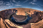 Horseshoe Bend Through the Fisheye, HDR
