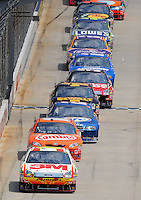 Jun 1, 2008; Dover, DE, USA; NASCAR Sprint Cup Series driver Greg Biffle (16) leads the field during the Best Buy 400 at the Dover International Speedway. Mandatory Credit: Mark J. Rebilas-US PRESSWIRE