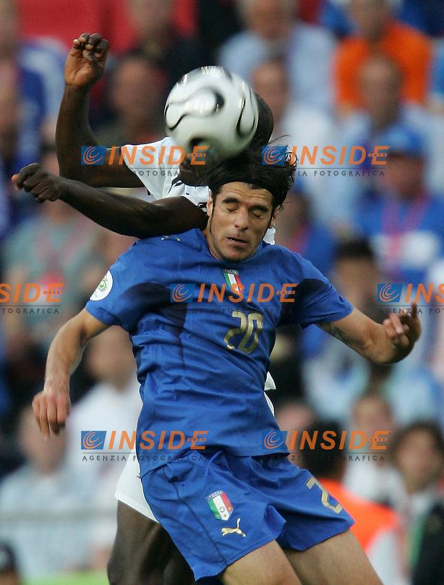 Hanover 12/6/2006 World Cup 2006.Italia Ghana.Photo Andrea Staccioli Insidefoto.Perrotta e MUNTARI
