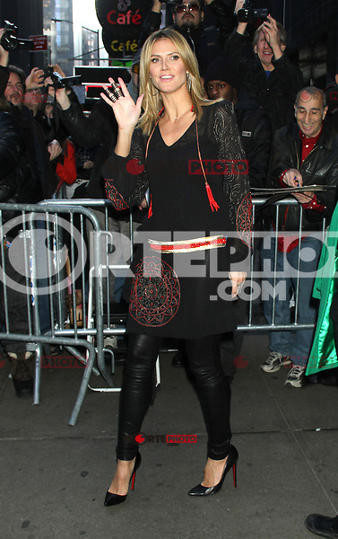 NEW YORK, NY - DECEMBER 3: Heidi Klum visits Good Morning America in New York City. December 3. 2012. Credit: RW/MediaPunch Inc. ©/NortePhoto /NortePhoto©
