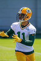 Green Bay Packers wide receiver Trevor Davis (11) during an OTA on June 1, 2017 at Clark Hinkle Field in Green Bay, Wisconsin. (Brad Krause/Krause Sports Photography)