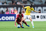 Shanghai FC Forward Givanildo Vieira De Sousa (Hulk) (L) fights for the ball with Jiangsu FC Defender Zhou Yun (R) during the AFC Champions League 2017 Round of 16 match between Shanghai SIPG FC (CHN) vs Jiangsu FC (CHN) at the Shanghai Stadium on 24 May 2017 in Shanghai, China. Photo by Marcio Rodrigo Machado / Power Sport Images
