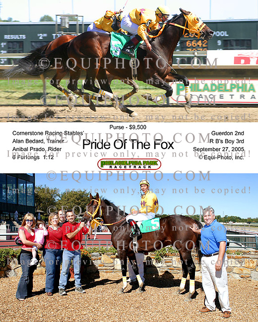 Pride Of The Fox winning at Philadelphia Park