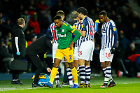 25th February 2020; The Hawthorns, West Bromwich, West Midlands, England; English Championship Football, West Bromwich Albion versus Preston North End; Darnell Fisher of Preston North End leaves the field after being sent off by Referee Kevin Friend