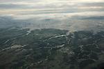 Meandres du Tonle Sap rejoignant le Mekong et paysages inondes lors de la mousson. . Cambodge