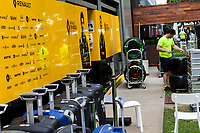 13th March 2020; Melbourne Grand Prix Circuit, Melbourne, Victoria, Australia; Formula One, Australian Grand Prix, Practice Day; Renault pack their garage area away