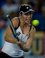 Maria Jose Martinez Sanchez (ESP) against Sorana Cirstea (ROM) in the Spain V Romania Group A match. Maria Jose Martinez Sanchez (ESP) beat Sorana Cirstea (ROM) 6-4 6-3..International Tennis - Hyundai Hopman Cup XXII - Tues 05 Jan 2010 - Burswood Dome - Perth - Australia ..© Frey, AMN Images, Level 1, Barry House, 20-22 Worple Road, London, SW19 4DH