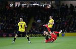 Liverpool's Emre Can scoring his side sopening goal during the Premier League match at Vicarage Road Stadium, London. Picture date: May 1st, 2017. Pic credit should read: David Klein/Sportimage