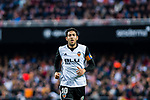 Daniel Parejo Munoz of Valencia CF reacts during the La Liga 2017-18 match between Valencia CF and Villarreal CF at Estadio de Mestalla on 23 December 2017 in Valencia, Spain. Photo by Maria Jose Segovia Carmona / Power Sport Images