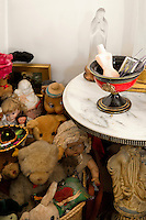 Vintage toys and side table
