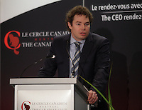 March 17, 2014 - Louis Morisset, President & CEO of AMF ( Autorite des marches financiers), delivers a speech to the Canadian Club of Montreal <br /> <br /> Photo : Pierre Roussel
