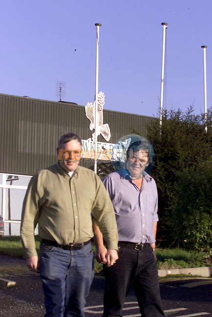 John Rafferty and Michael McMahon shopstewards at the Hawksbay factory in Ardee Co Louth..