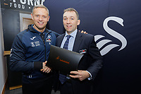 Pictured: Lee Trundle (L). Thursday 05 December 2019<br /> Re: CBN networking event at the Liberty Stadium, Swansea, Wales, UK.