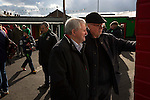 Glentoran 2 Cliftonville 1, 22/10/2016. The Oval, NIFL Premiership. Home supporters looking at the team lines inside The Oval, Belfast before Glentoran hosted city-rivals Cliftonville in an NIFL Premiership match. Glentoran, formed in 1892, have been based at The Oval since their formation and are historically one of Northern Ireland's 'big two' football clubs. They had an unprecendentally bad start to the 2016-17 league campaign, but came from behind to win this fixture 2-1, watched by a crowd of 1872. Photo by Colin McPherson.