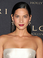 WWW.BLUESTAR-IMAGES.COM  Actress Olivia Munn arrives at the BVLGARI 'Decades Of Glamour' Oscar Party Hosted By Naomi Watts at Soho House on February 25, 2014 in West Hollywood, California.<br /> Photo: BlueStar Images/OIC jbm1005  +44 (0)208 445 8588