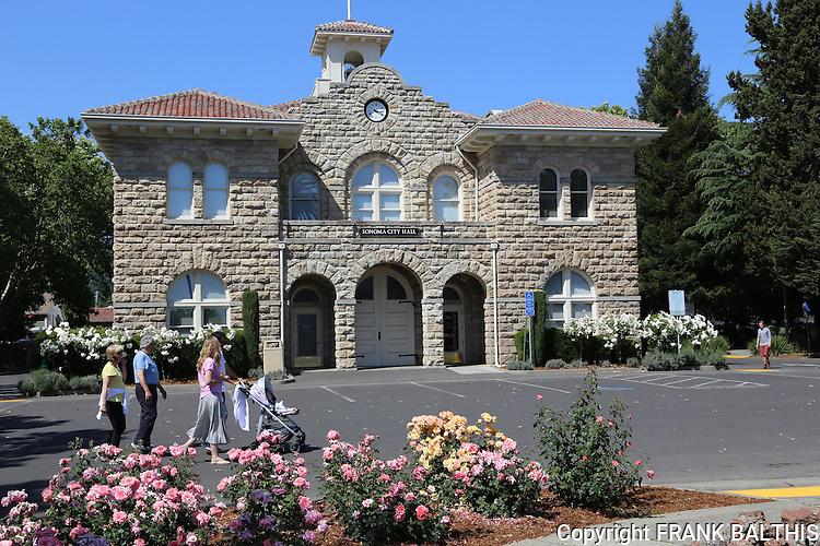 Visitors at Sonoma City Hall