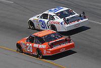 May 6, 2007; Richmond, VA, USA; Nascar Nextel Cup Series driver Jeff Burton (31) races alongside Tony Stewart (20) during the Jim Stewart 400 at Richmond International Raceway. Mandatory Credit: Mark J. Rebilas
