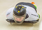 9 January 2016: John Farrow, competing for Australia, enters the track for his first start of the BMW IBSF World Cup Skeleton race at the Olympic Sports Track in Lake Placid, New York, USA. Farrow ended the day with a combined 2-run time of 1:51.43 and a 17th place overall finish. Mandatory Credit: Ed Wolfstein Photo *** RAW (NEF) Image File Available ***