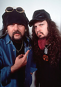 Pantera - Vinnie Paul and Dimebag Darrell Abbott of Pantera- photosession in London UK  - 01 May 1996. Photo credit: George Chin/IconicPix