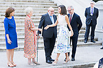 Queen Letizia of Spain arrives to Biblioteca Nacional de Espana. July 30, 2019. (ALTERPHOTOS/Francis González)