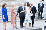 Queen Letizia of Spain arrives to Biblioteca Nacional de Espana. July 30, 2019. (ALTERPHOTOS/Francis González)