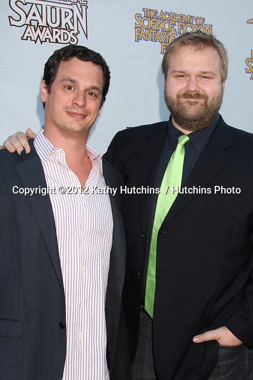 LOS ANGELES - JUL 26:  Glenn Mazzara, Robert Kirkman arrives at the 2012 Saturn Awards at Castaways on July 26, 2012 in Burbank, CA