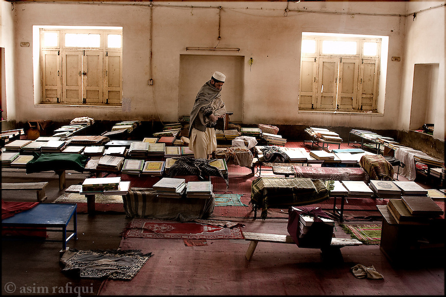 a classroom at the darol-uloom madrassa sarhad peshawar