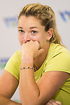 Coco Vandeweghe of United States talks to media during post match press conference after winning the singles semi final match of the WTA Elite Trophy Zhuhai 2017 against Ashleigh Barty of Australia at Hengqin Tennis Center on November  04, 2017 in Zhuhai, China. Photo by Yu Chun Christopher Wong / Power Sport Images