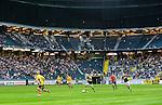 Solna 2015-07-26 Fotboll Allsvenskan AIK - IF Elfsborg :  <br /> Vy &ouml;ver Friends Arena med publik och tomma l&auml;ktarsektioner under matchen mellan AIK och IF Elfsborg <br /> (Foto: Kenta J&ouml;nsson) Nyckelord:  AIK Gnaget Friends Arena Allsvenskan Elfsborg IFE supporter fans publik supporters inomhus interi&ouml;r interior