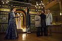Shakespeare's Globe presents THE WINTER'S TALE, by William Shakespeare, in the Sam Wanamaker Playhouse. Picture shows: Niamh Cusack (Paulina), Fergal McElherron (Camillo), John Light (Antigonus), Simon Armstrong (Polixenes)