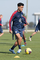 Brandon Servania of the United States dribbles the ball