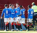 15.12.2019 Motherwell v Rangers: Nikola Katic celebrates his goal for Rangers