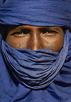 Portrait of a Tuareg tribesman, Libya