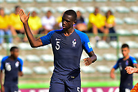 17th November 2019; Bezerrao Stadium, Brasilia, Distrito Federal, Brazil; FIFA U-17 World Cup football 3rd placed game 2019, Netherlands versus France; Nianzou Kouassi of France celebrates goal scored by Arnaud Kalimuendo-Muinga of France in the 62nd minute 1-3 - Editorial Use