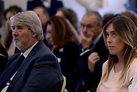 Roma, 28 Settembre 2017<br /> Giuliano Poletti e Maria Elena Boschi<br /> Primo giorno della Terza Conferenza Nazionale della Famiglia al Campidoglio