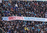FIRENZE 20/01/2013 - CAMPIONATO SERIE A 2012/2013 .INCONTRO FIORENTINA NAPOLI .NELLA FOTO striscioni tifosi napoli.FOTO CIRO DE LUCA