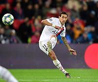 6th November 2019, Paris France; UEFA Champions league football, Paris St German versus Brugges;   DI MARIA Angel PSG takes a shot on goal
