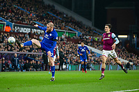 Aron Gunnarsson of Cardiff City controls the ball under pressure from Jack Grealish of Aston Villa during the Sky Bet Championship match between Aston Villa and Cardiff City at Villa Park, Birmingham, England on 10 April 2018. Photo by Mark  Hawkins / PRiME Media Images.